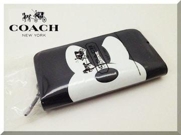 コーチ×ミッキー☆COACH×Disney ラウンドファスナー 長財布