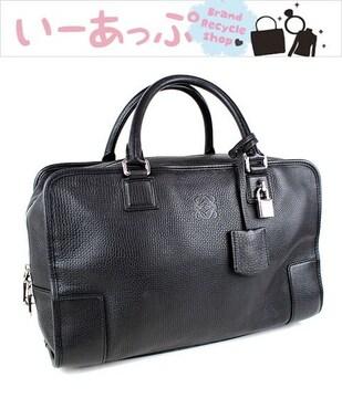 ロエベ ハンドバッグ アマソナ トートバッグ ブラック 極美品 j351