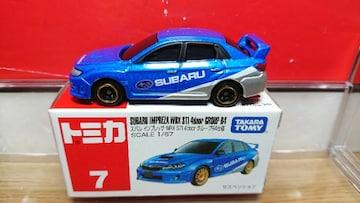 ★赤箱トミカ7★スバル インプレッサWRX STI 4doorグループR4仕様★