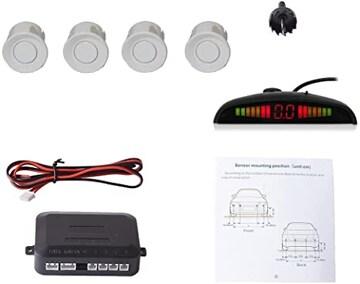 車載駐車 ソナー汎用コーナーセンサー4個 LED距離表示 高敏感パ