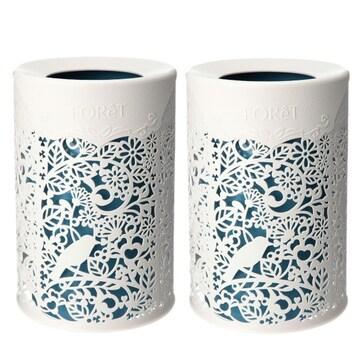 模様替え 魅せる収納 フォレット まるで切り絵の様な ゴミ箱 同2個セット