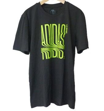 大きいサイズ新品XO★アディダス黒グラフィックTシャツ