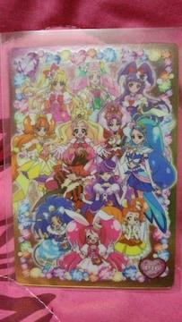 プリキュアオールスターズ☆キラキラカードグミ☆プラカード☆プリキュア大集合☆レア☆即決