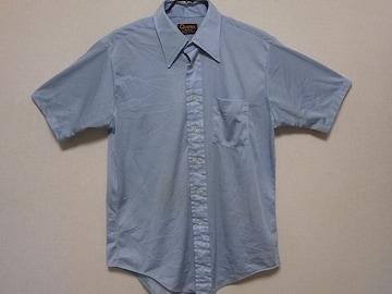 即決USA古着●Qiana総柄デザイン半袖シャツ!アメカジ・ヴィンテージ