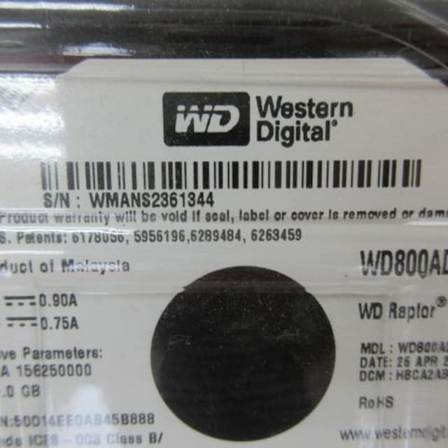 Western Digital S/N WMANS2361344 80.0GB < PC本体/周辺機器の