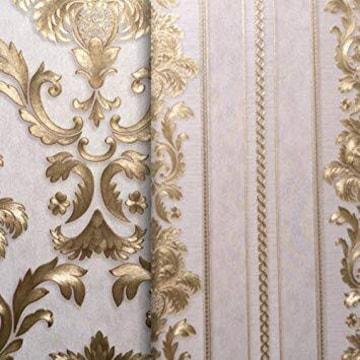 色金色 ヨーロッパ復古豪華レリーフ金色質感壁紙-インテリアシー