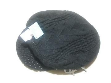 wn79 ROXY ロキシー ニットハンチング帽 ブラック