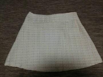 R・F スカート 新品 ミニスカート ツイード