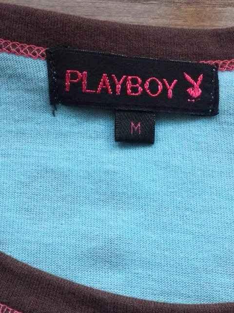 PLAYBOY 長袖 Tシャツ 水色 M プレイボーイ プレボ N2m < ブランドの