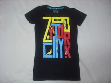 wr491 女 ZOO YORK ズーヨーク 黒 半袖Tシャツ Sサイズ ★