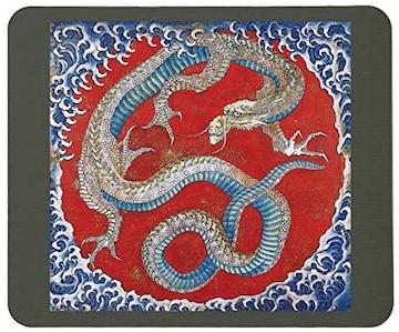 北斎、信州小布施 東町祭屋台天井絵『龍図』のマウスパッド C