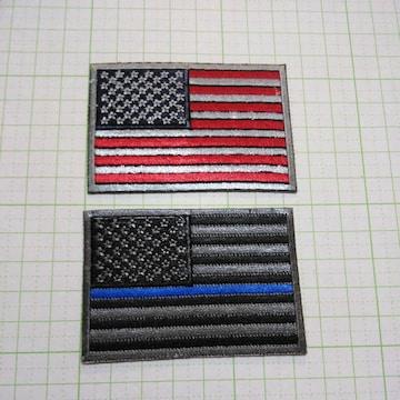 NO.206 アイロンワッペン パッチ アップリケ アメリカ 国旗