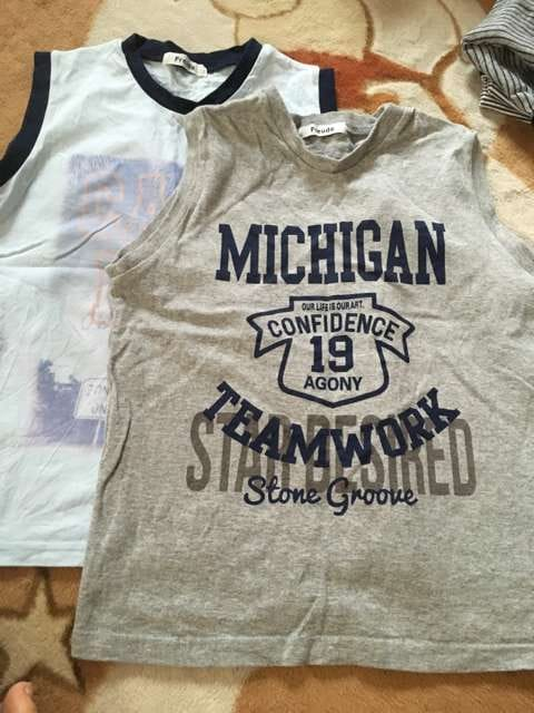 美品  ランニングTシャツ 2枚セット 140  < キッズ/ベビーの