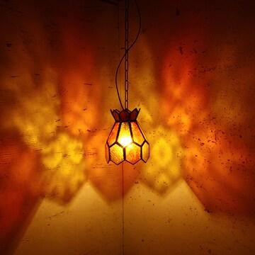 アイアンガラスランプ エキゾチック 間接照明 アジアン