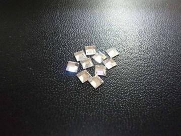スワロフスキー #2400 3mm クリスタル 10個 四角 3084