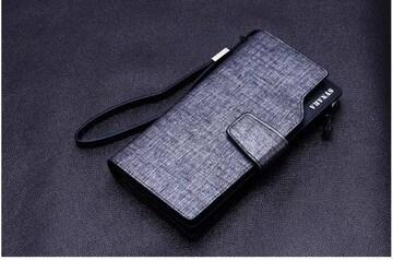 長財布 財布 レザー ファスナー 札入れ 小銭入れ ブラック