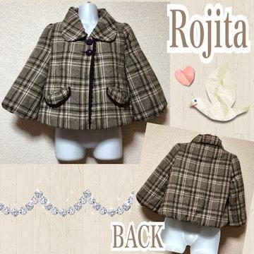【新品/Rojita】中綿入バルーン七分袖チェック柄ジャケット