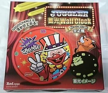 JUGGLER 蓄光 Wall Clock ジャグラー 蓄光 壁かけ 時計 レッド