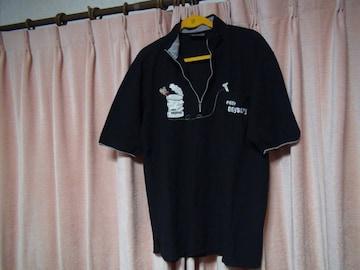odysseyのポロシャツ(L)ブラック日本製!