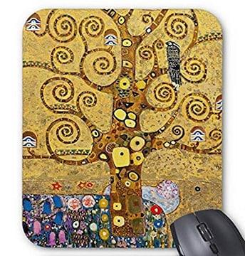 グスタフ・クリムト『 生命の樹 』のマウスパッド(部分)