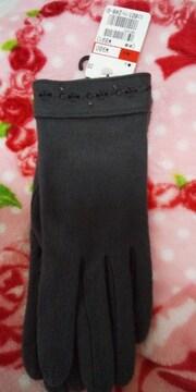グレーの刺繍手袋♪新品