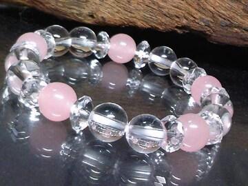 六角水晶系クォーツアイト§水晶ピンク8ミリ数珠