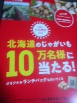 北海道じゃがいも10万名様当たる応募券30点15口即応募ハガキ5