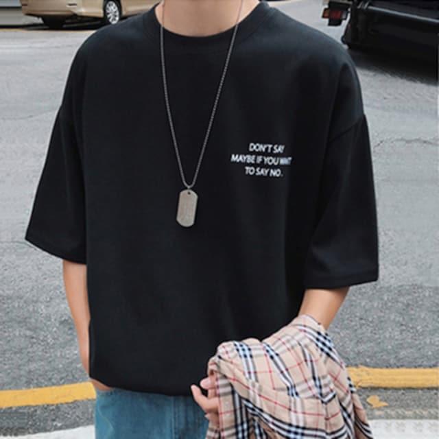 【 ブラック・XL 】バックプリント Tシャツ メンズ < 男性ファッションの
