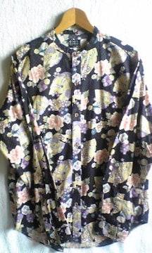 TK タケオキクチ 長袖 和柄 花柄シャツ