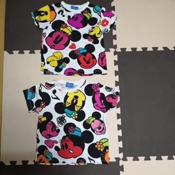 ミニーマウスのTシャツ二枚(110cm、120cm)
