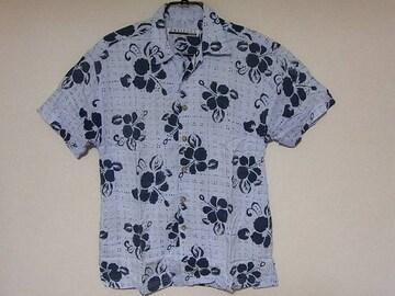 即決USA古着PRESENCEフラワーデザインアロハシャツ!ハワイアンアメカジ