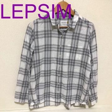 # LEPSIMチェックシャツ