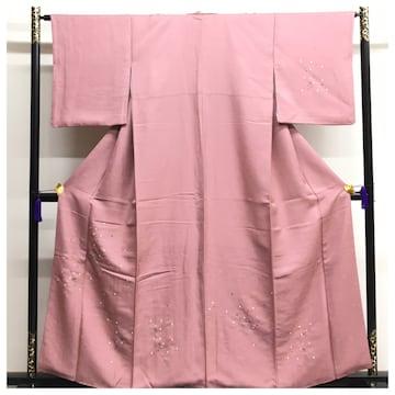美品 刺繍 高級呉服 正絹 付下げ 身丈156 裄64.5 袷 中古品
