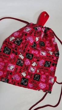 特価 ★ N7 キティ ナップサック巾着(*^O^*)ハンドメイド