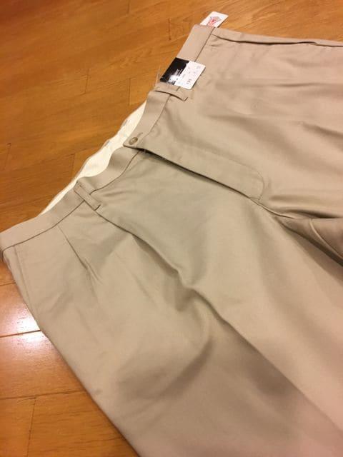 B.Chaser   ツータックチノパン  カーキ  size115  ストレッチ < 男性ファッションの