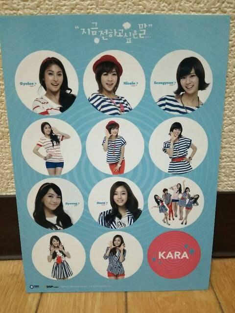 KARA 韓国ファンミーティング 2011 伝えたい言葉 グッズ セット < タレントグッズの
