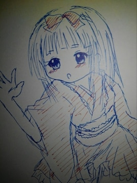 青森県の女の子マグリットちゃん�Aオリジナル自作イラスト