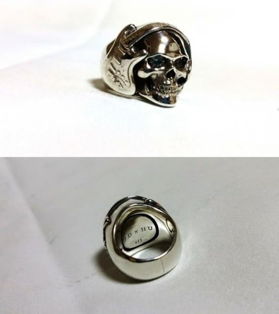 正規 Justin Davis ジャスティンデイビス アーティストスカルリングSV925 4号 指輪 < ブランドの