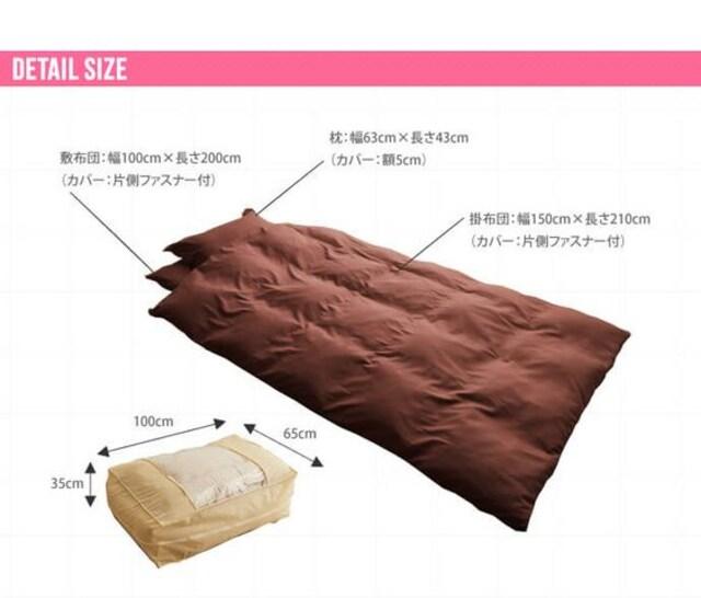 洗える布団7点セット ポリエステル中綿 シングルサイズ 117001 < インテリア/ライフの