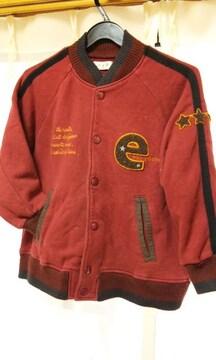 ベベe.a.bスゥェットジャケット120男女バック刺繍