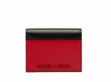 PRADA 1MV204-2B6U-F0C9F  二つ折財布  レディース