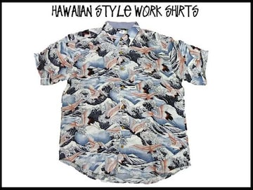 新品 アロハ・ハワイアンスタイル S/S半袖シャツ (2XL)#215