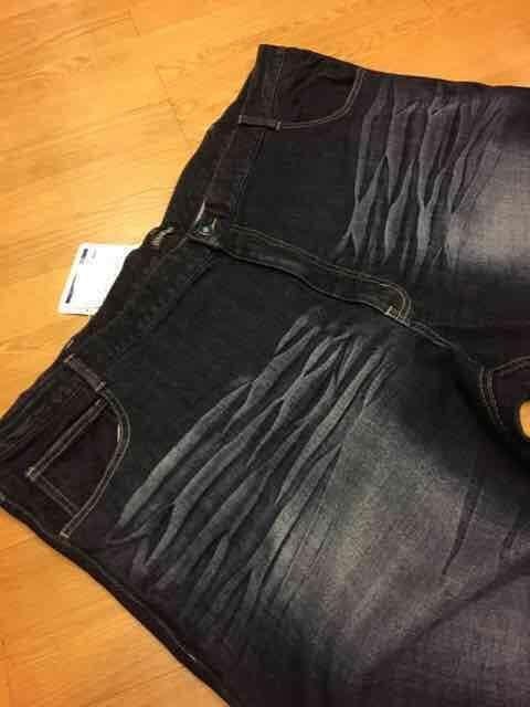 American  インディゴストレートデニム  ポケット加工  sizeウエスト140 < 男性ファッションの