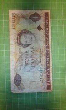 ニュージーランド1ドル紙幣♪