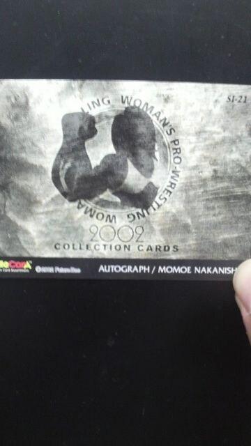 2002 中西百重 直筆サインカード < トレーディングカードの