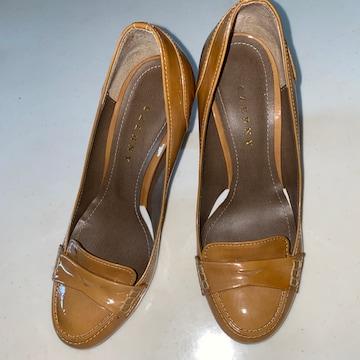 靴 ヒール 23cm 茶 ブラウン ローファー ツェルニー