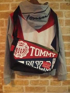 【希少】TOMMY×マンハッタンポーテージメッセンジャーバッグ迷彩×フラッグカラー
