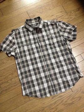 美品PPFM  刺繍入りチェックシャツ ペイトンプレイス