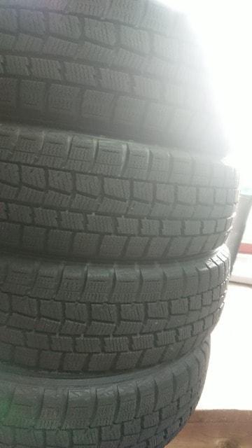 155/65R14 DUNLOP 残り溝極上中古セット! < 自動車/バイク